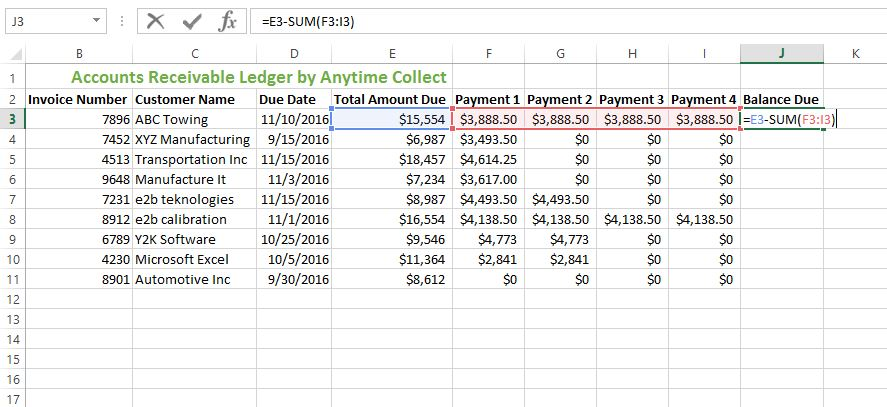 HOW TO CREATE AN ACCOUNTS RECEIVABLE LEDGER IN EXCEL AnytimeCollect