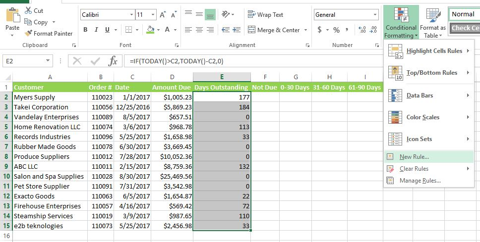 HOW TO CREATE AN AGING REPORT IN EXCEL AnytimeCollect