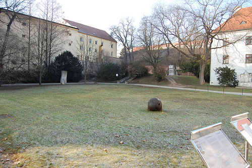 Mendel's garden in St. Thomas's Abbey, Brno.