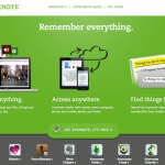 Evernote&#039;s welcome page