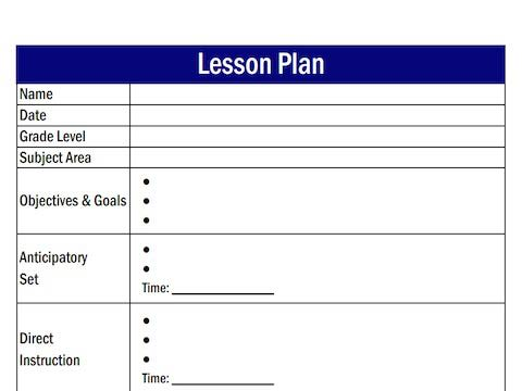 How To Write Lesson Plans For High School