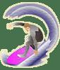 画像:サーフィンをする人