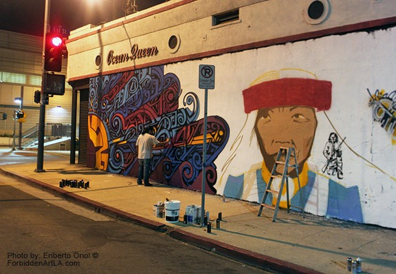 Apache skateboards for Art miles mural project
