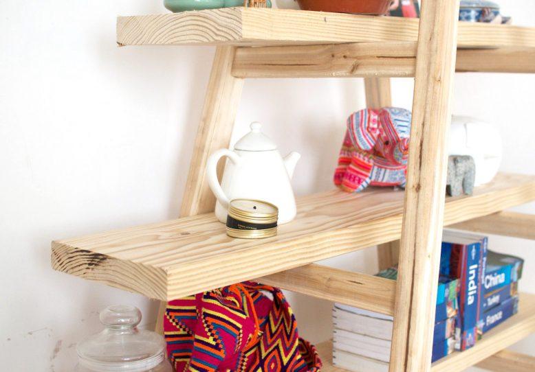 Diy Ladder Shelves A Pair A Spare