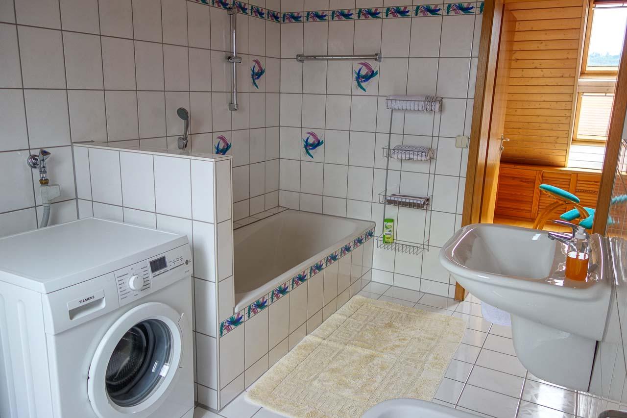 Badezimmer Klein Mit Waschmaschine Ferienwohnung Lerche Westerland