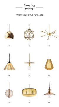 9 Gold Pendants To Light Up Your Life - Apartment34