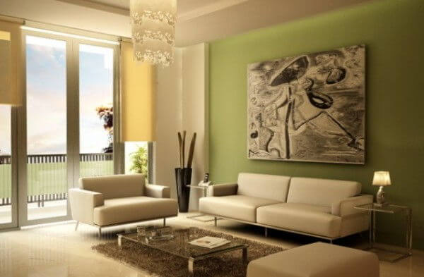 Light Green Living Room Decor - Rize Studios