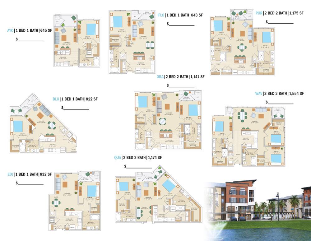 Apartment Tri-Fold Brochure Samples
