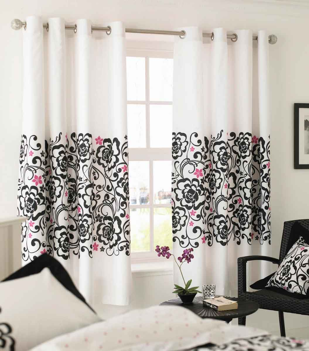 Black And White Bedroom Curtains Ideas White Black And Pink Decor Apartments I Like Blog