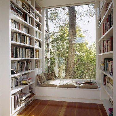 cozy room with books
