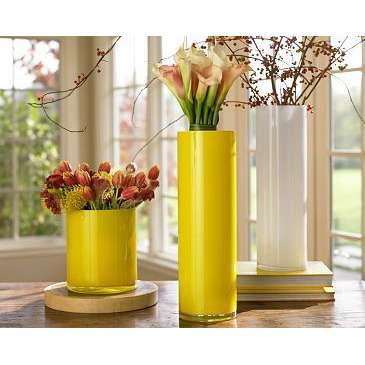 yellow vases
