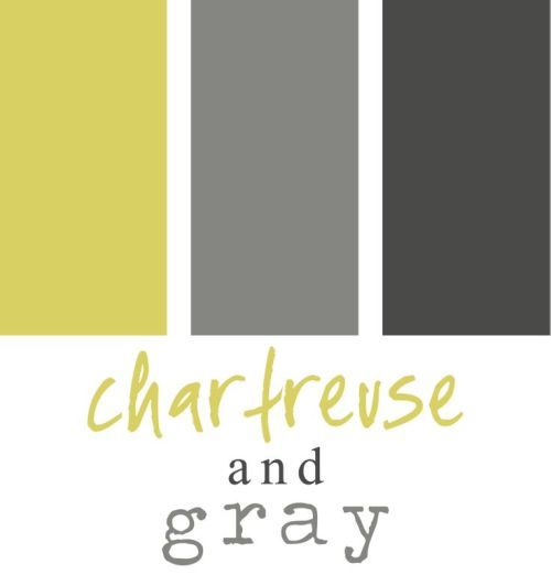 chartreuse and gray color panels
