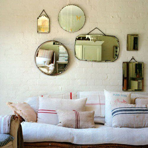 mirror collage living room
