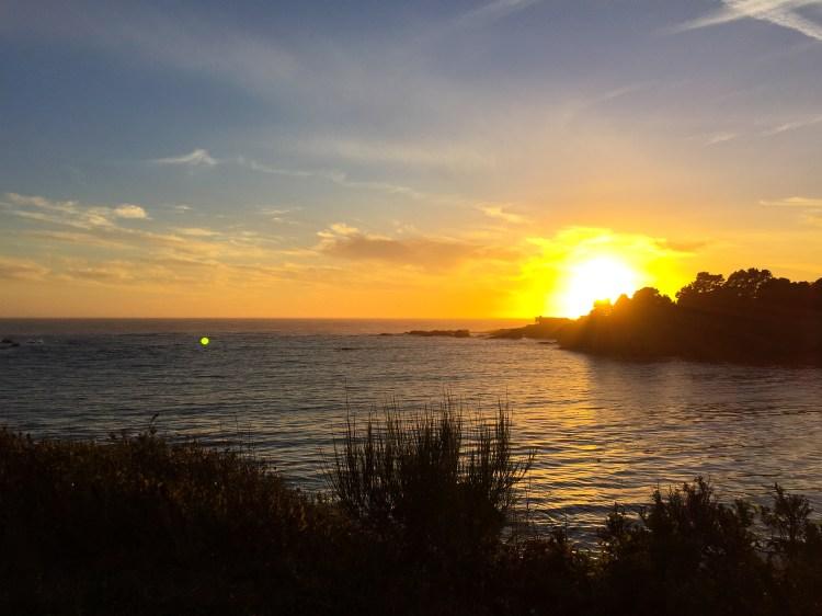 mendocino california sunset