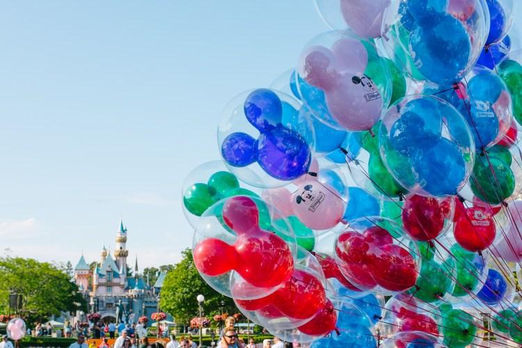 Mickey Balloons at Disneyland California Coast Road Trip