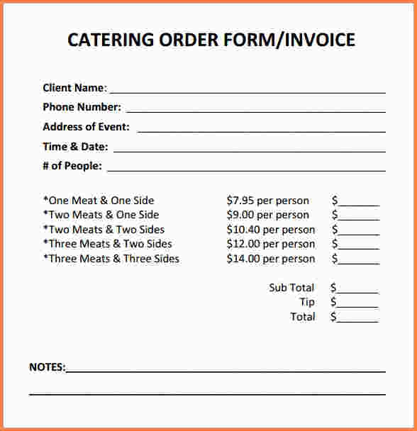 Catering Invoice Template Word apcc2017