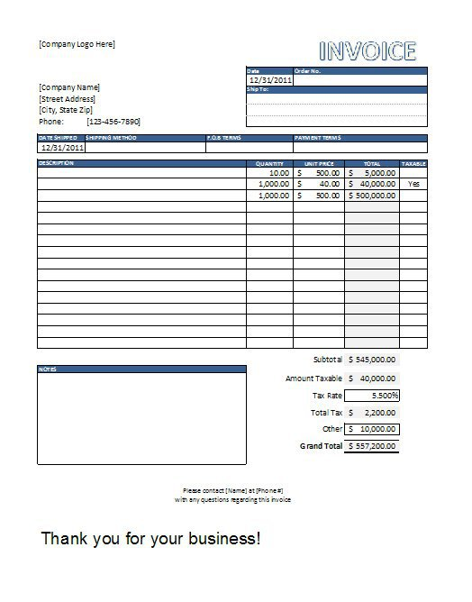 sample invoices excel - Seckinayodhya