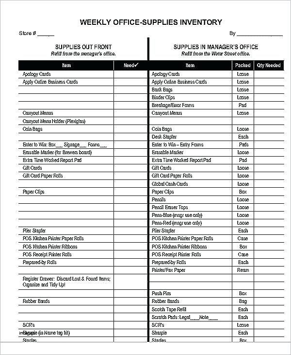 Office Inventory Template apcc2017