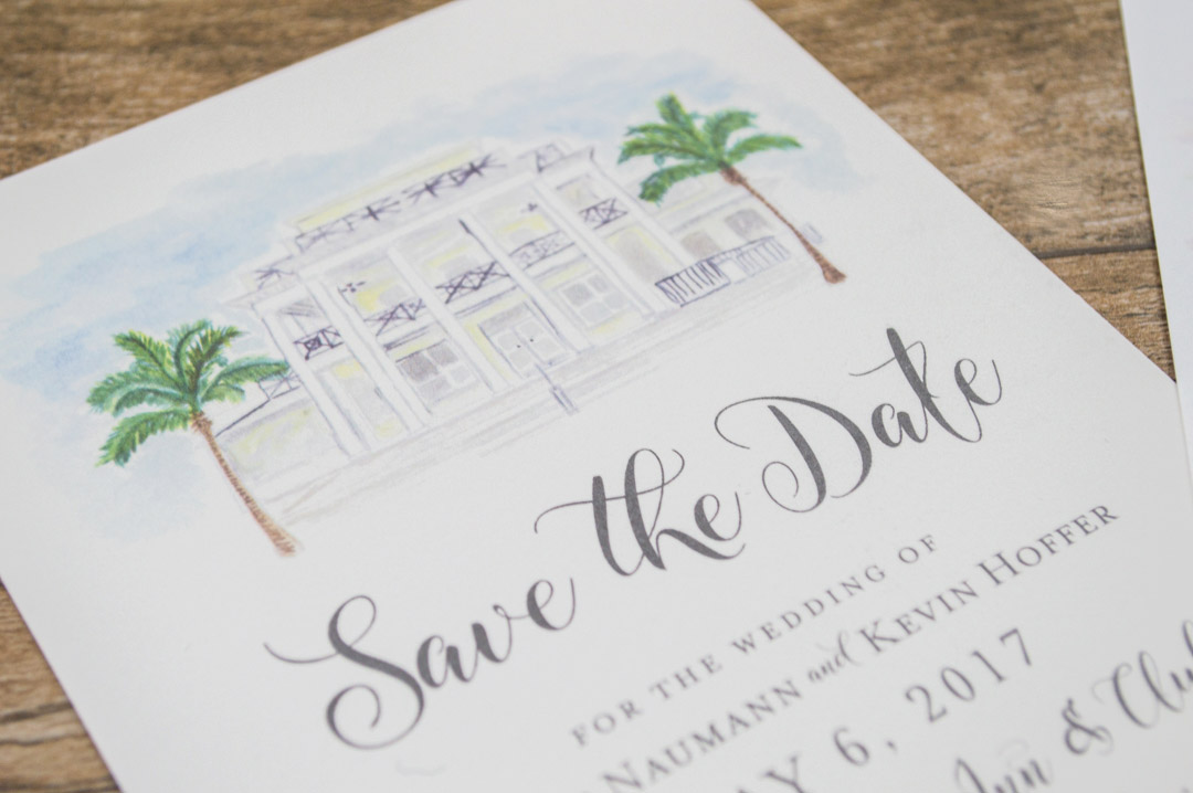 custom-watercolor-save-the-date-cards - AP Designs Invitations