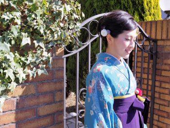卒業式ヘアメイク袴の着付け10