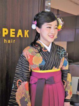 卒業式ヘアメイク袴の着付け7