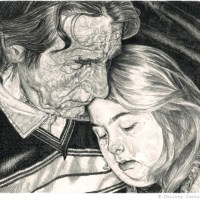 Tender Pencil Illustrations by Chrissy Curtain