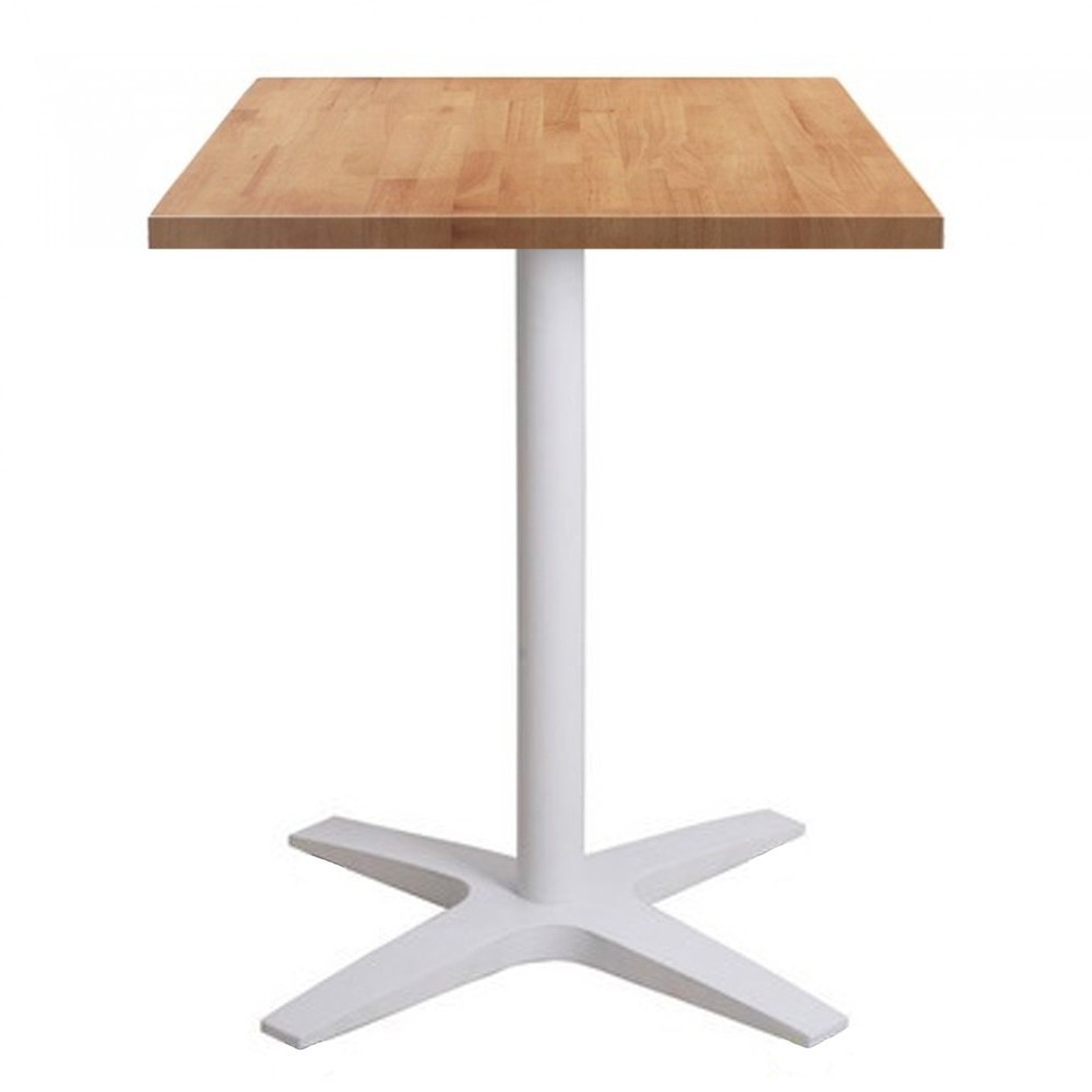 Cafe Table Nordic Square Cafe Table With White Base