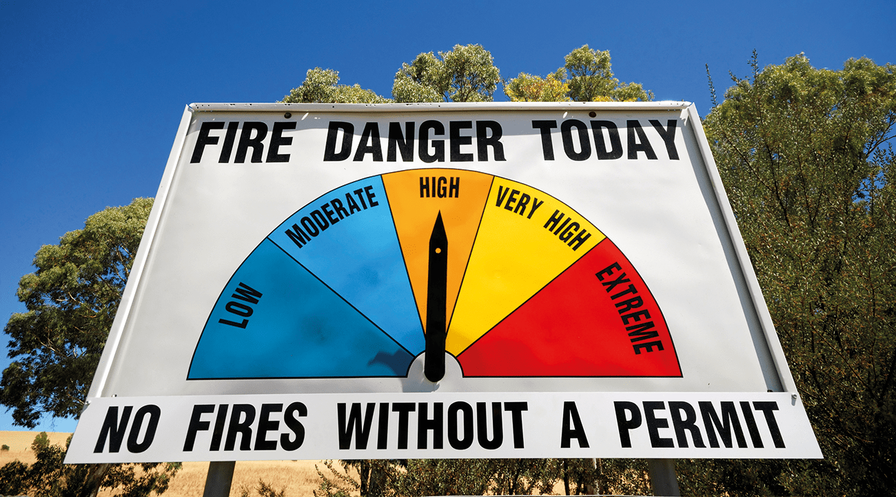 The annual number of high fire danger days in Tasmania is projected to increase during this century.