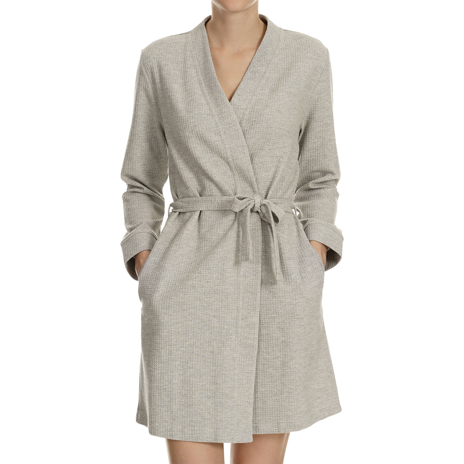 Bademantel Grau Bademantel Robe In Grau Mélange Loungewear