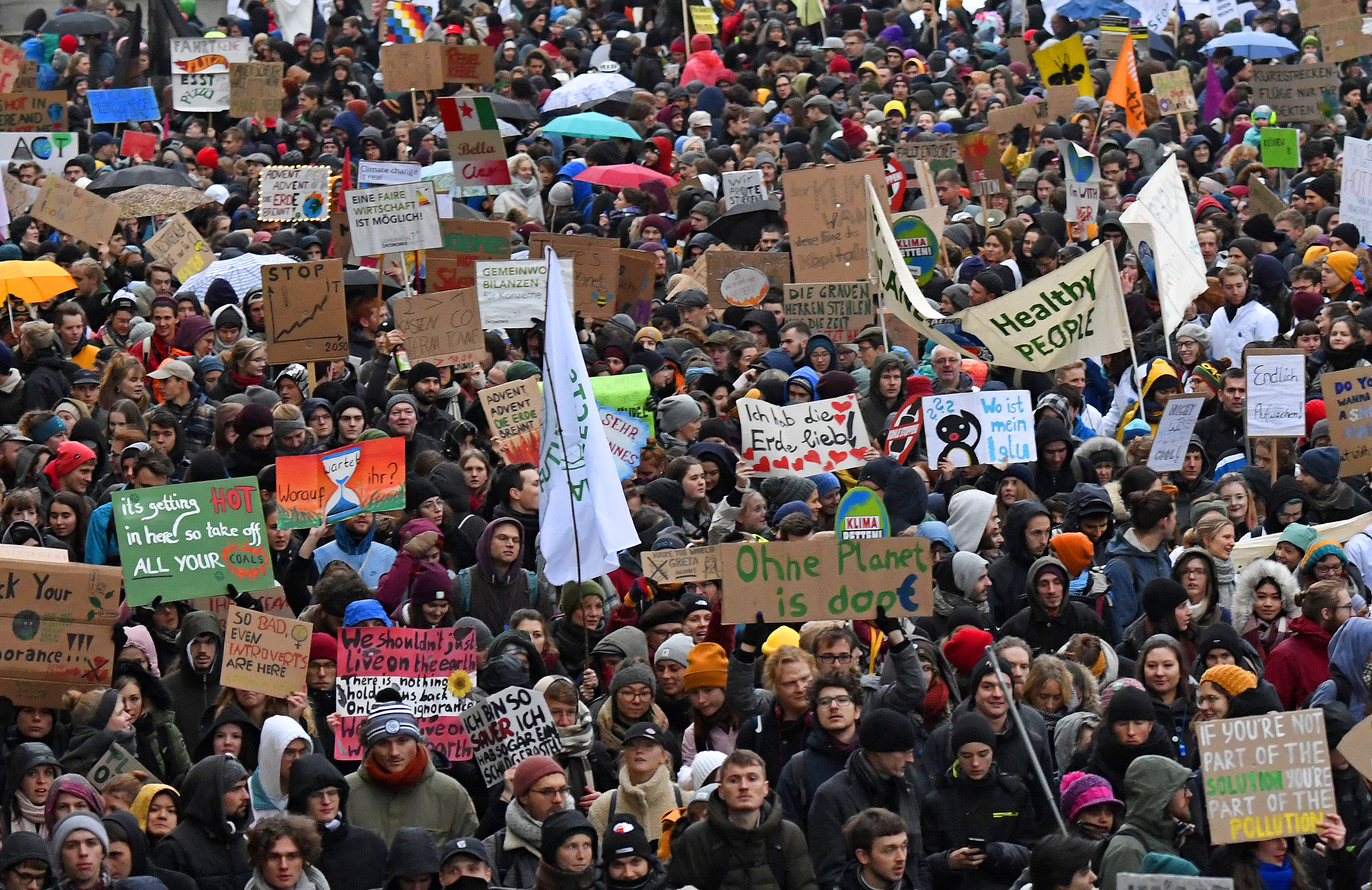 Thousands Around The World Climate Strike On Black Friday Time