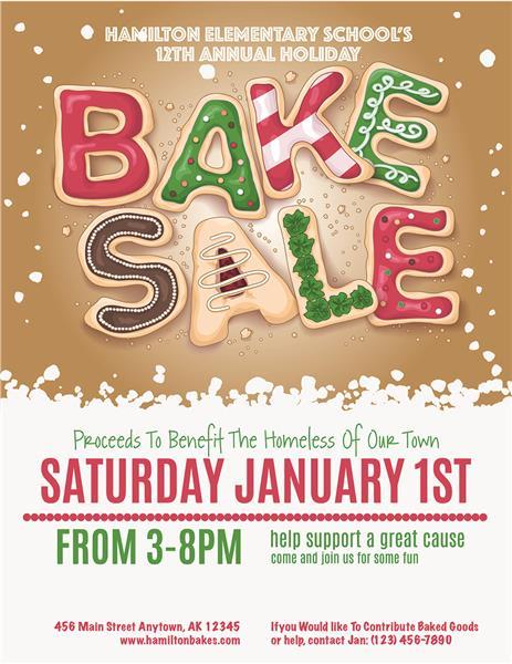 Christmas Bake Sale Invitations