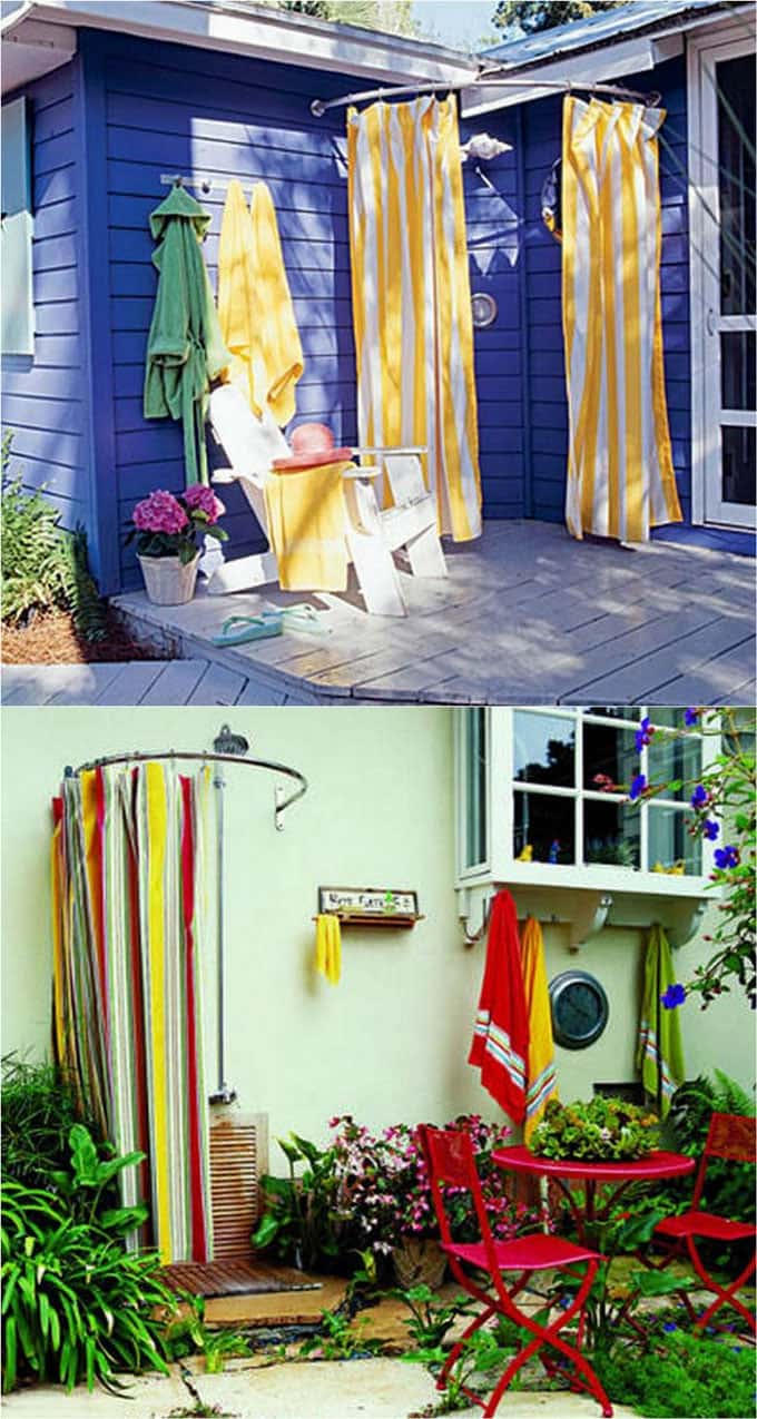 Outdoor Curtain Fabric By The Yard 32 Beautiful Diy Outdoor Shower Ideas For The Best Summer Ever