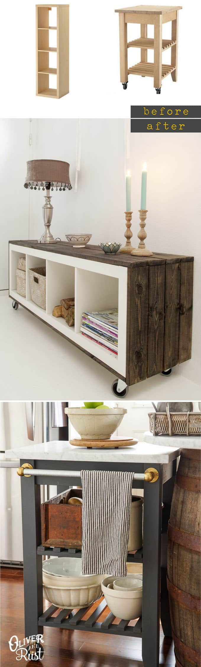 Vintage Küche Ikea Easy Custom Furniture With 18 Amazing Ikea Hacks A Piece
