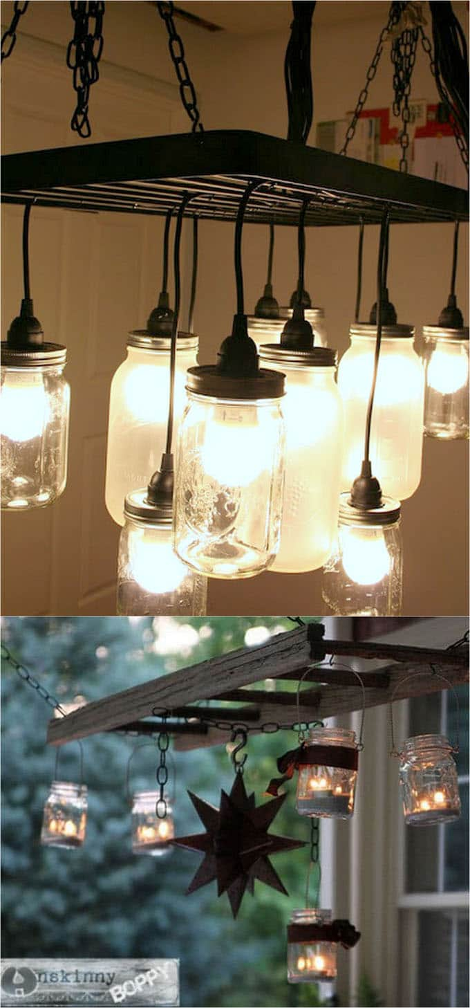 Glass Jar Lamp Shade Diy Mason Jar Lights 25 Best Tutorials Kits Supplies A Piece