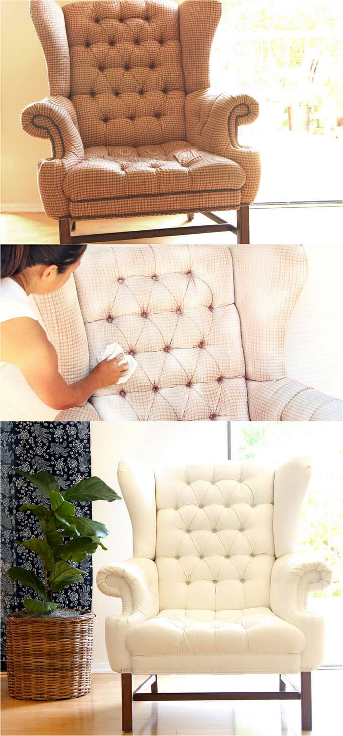 Furniture Reupholstery Near Me Uk How To Paint Upholstery Old Fabric Chair Gets Beautiful New Life