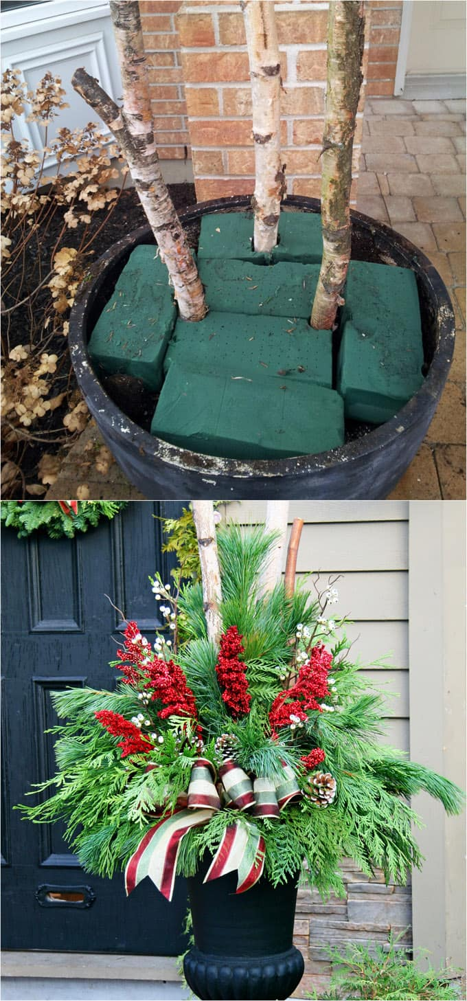 Unique Outdoor Flower Pots 24 Colorful Winter Planters Christmas Outdoor Decorations A