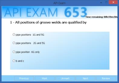 API 653 exam simulator