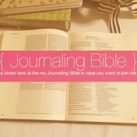Journaling Bible | My #JournalingBible
