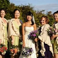 Fall-Colored Bridesmaid Dresses
