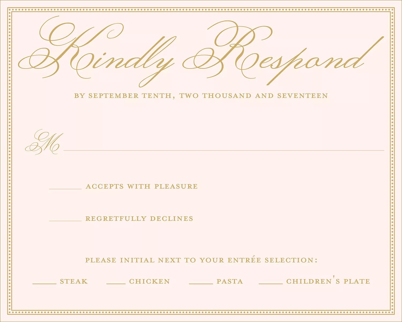 rsvp examples wedding