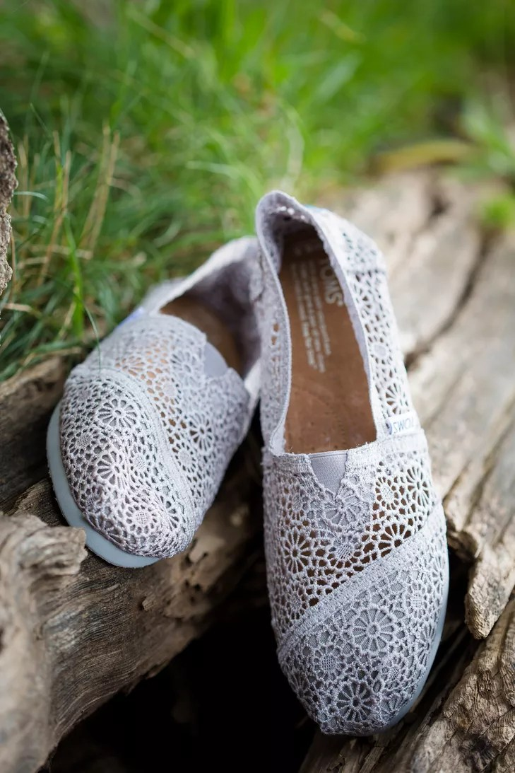 gray lace toms wedding shoes photo toms wedding shoes