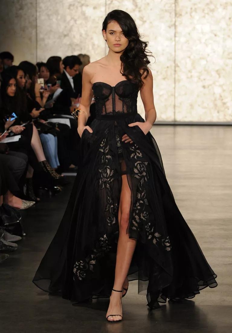 history of black wedding gowns black wedding gown Black Lace Wedding Dress Po Al The Fashions Of Paradise