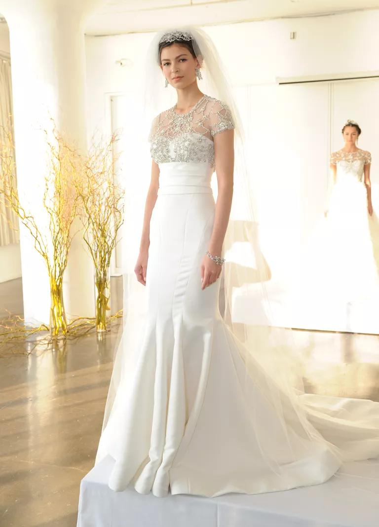 fall bridesmaid dresses fall dresses for wedding Marchesa Fall Collection Bridal Fashion Week Pos Liancarlo Fall Wedding Dress