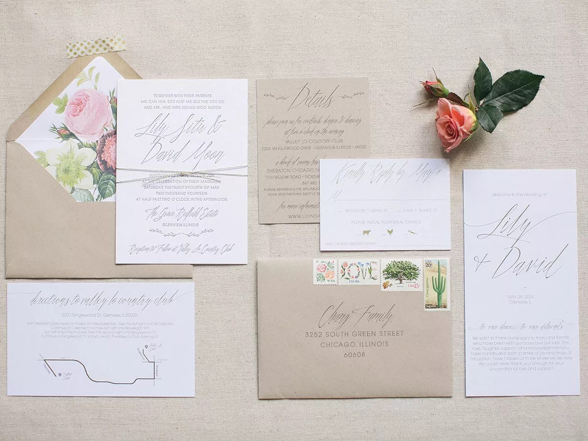 Cheap White Card A Glossary Of Important Wedding Invitation Terms