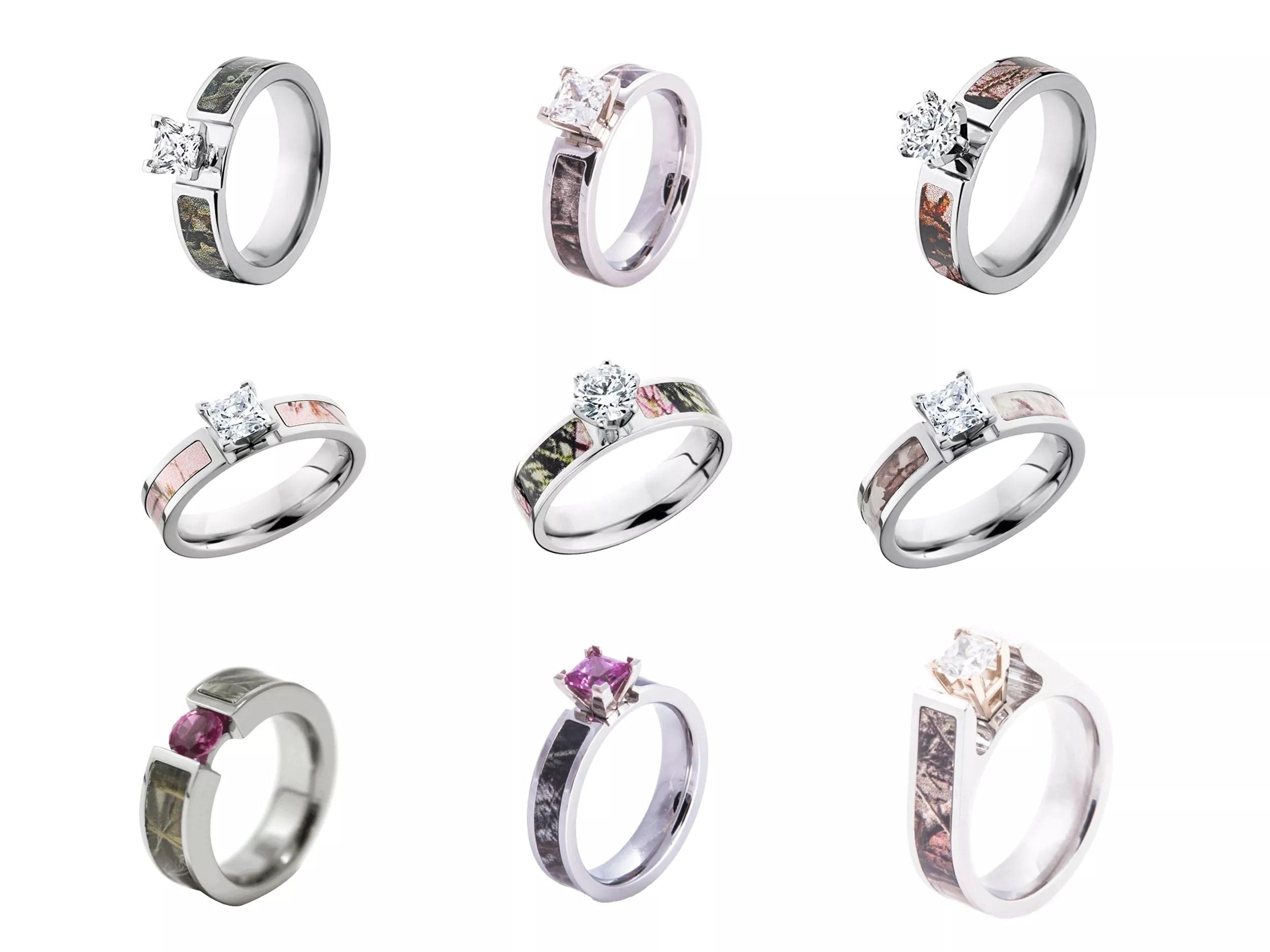 camo wedding rings engagement rings camo wedding band sets