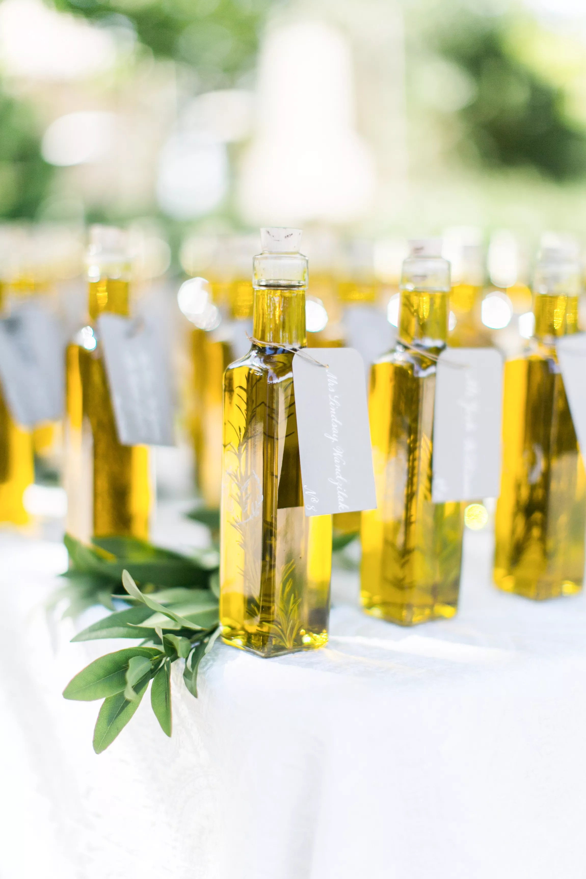 Wedding Supply Sites Olive Oil Favors And Escort Cards