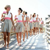Colorblock Bridesmaid Dresses