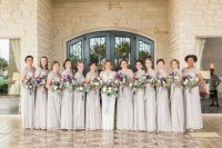Adrianna Papell Neutral Lace Bridesmaid Dresses