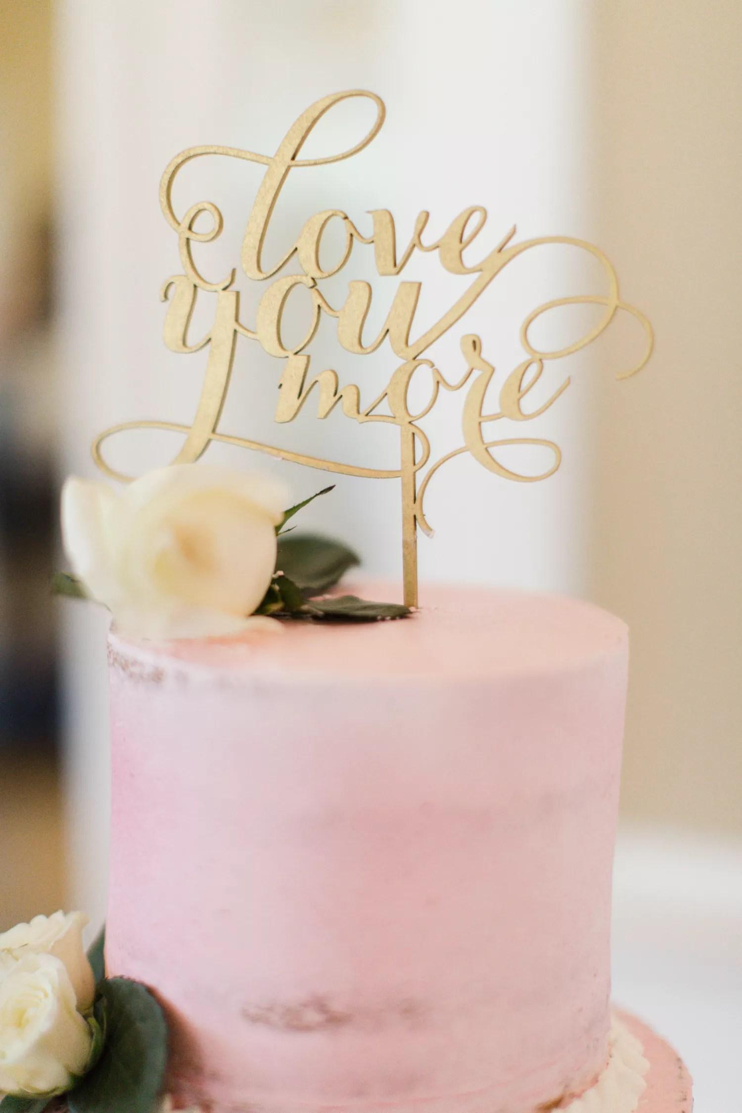 gold love you more wedding cake topper photo wedding cake topper