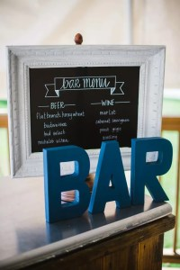 Rustic Chalkboard Signature Cocktail Menu